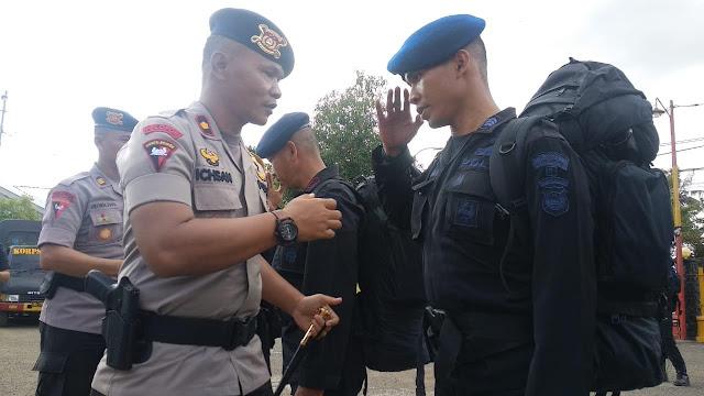 Lepas 50 Personelnya BKO ke Papua, Ini Pesan Danyon C Pelopor Brimob