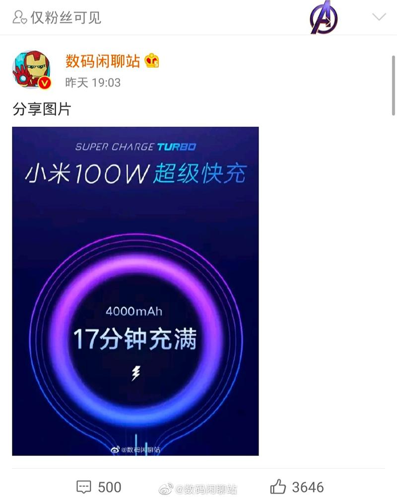 Xiaomi completes 100W charger, can fill a 4,000mAh batt in 17 mins!
