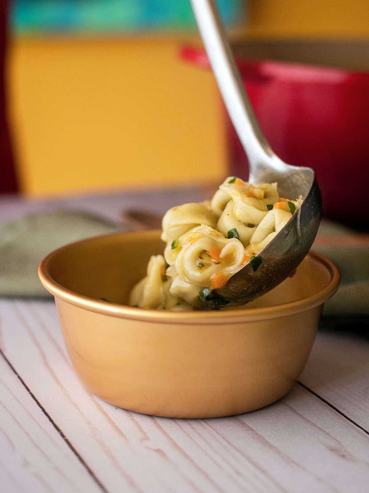 A simple comforting bowl of tortellini soup that will warm you up in mind, body and soul.   Local Food Rocks