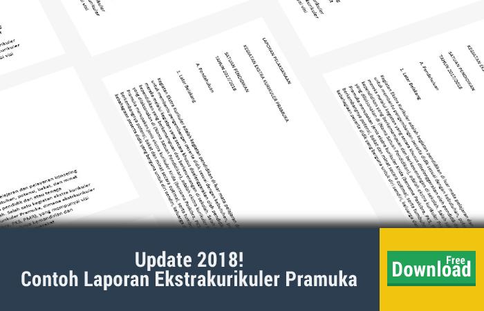 Contoh Laporan Kegiatan Ekstrakurikuler Pramuka SD