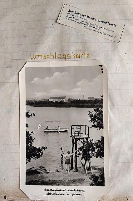 Blick in die Camping Chronik eines Leipzigers, der am See seine Jugend verbracht hat