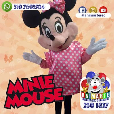 Minnie Mouse personaje animación y recreación fiesta infantil
