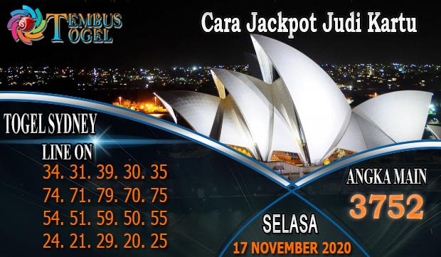 Cara Jackpot Judi Kartu Togel Sidney Hari Selasa 17 November 2020