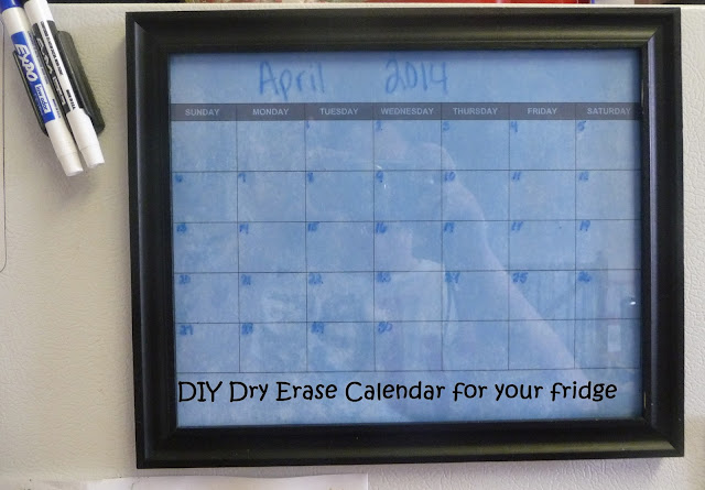 how to make a dry erase calendar on the cheap,