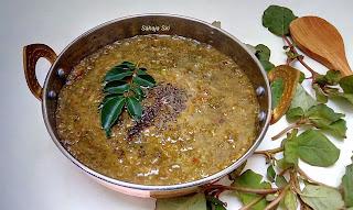 Mixed greens gravy - Bangalore Village Style recipe
