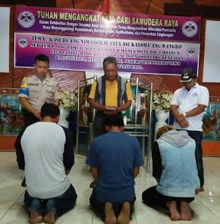 Prima Minstra, Polsek Ranoyapo Mediasi Kasus Penganiayaan Disaksikan Tokoh Agama