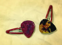 Elvis Guitar Pick Hair Clips