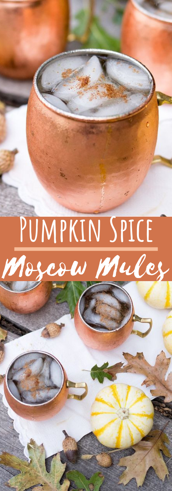 Pumpkin Spice Moscow Mules #drinks #cocktails