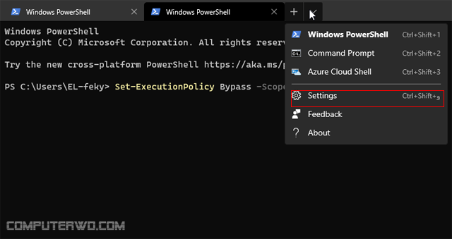 مميزات برنامج Windows Terminal الجديد لويندوز 10 Screenshot_1