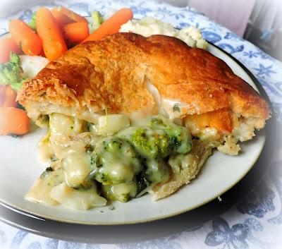 Broccoli, Cauliflower Cheese & Spinach Pie