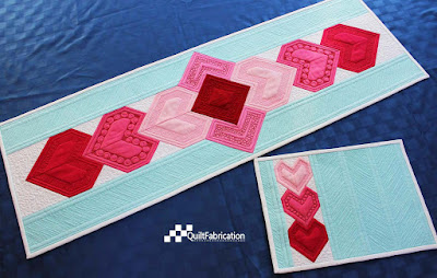 Heart to heart table runner by QuiltFabrication