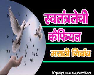 swatantratechi kaifiyat essay in marathi