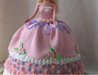 kue ultah bentuk barbie