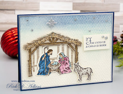 For day 5 of my 15 Days of Christmas and sharing a #craftyhandmadechristmas I used the Peaceful Nativity Bundle from Stampin' Up! click to learn more