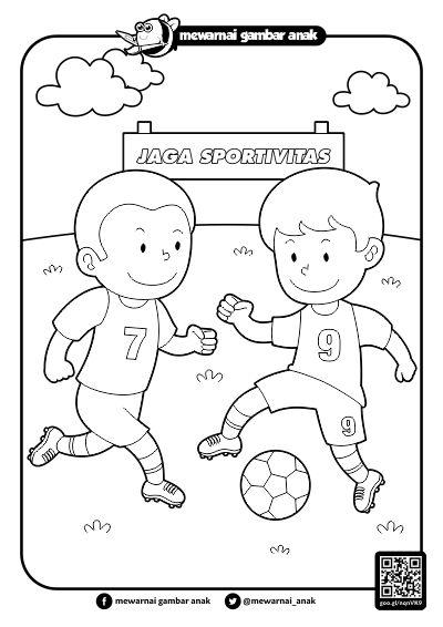 Gambar Mewarnai Olahraga Ala Model Kini
