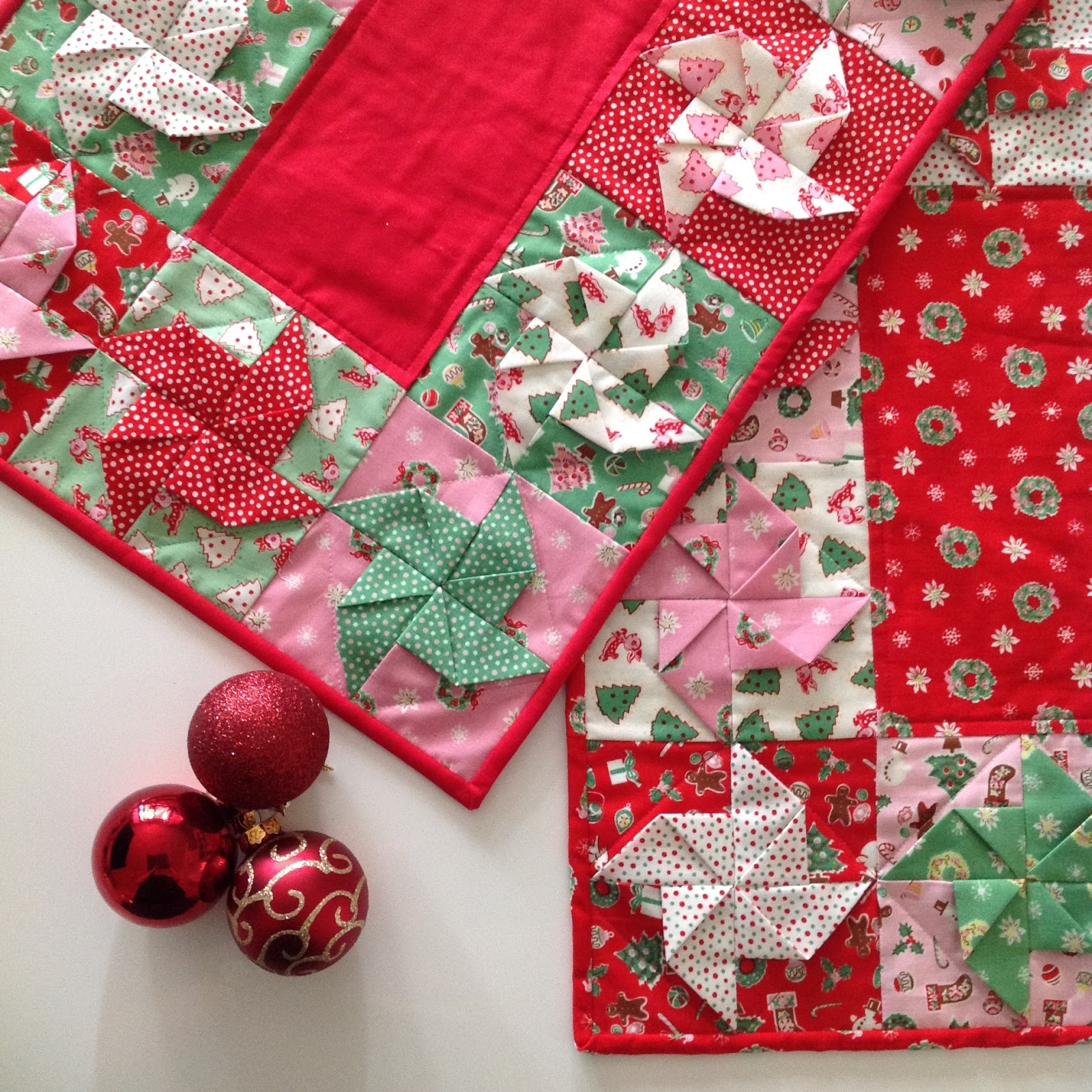 Lilabelle lane free tutorial christmas spin table runners