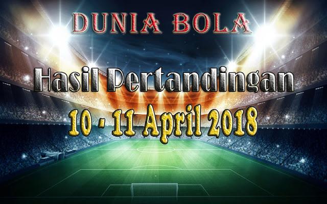 Hasil Pertandingan Sepak Bola Tanggal 10 - 11 April 2018