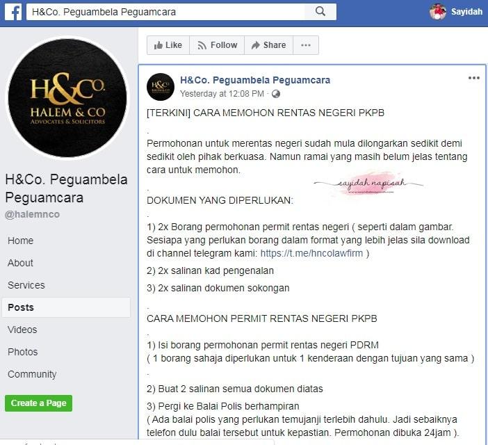 borang rentas negeri pkpb pdrm permit pergerakan