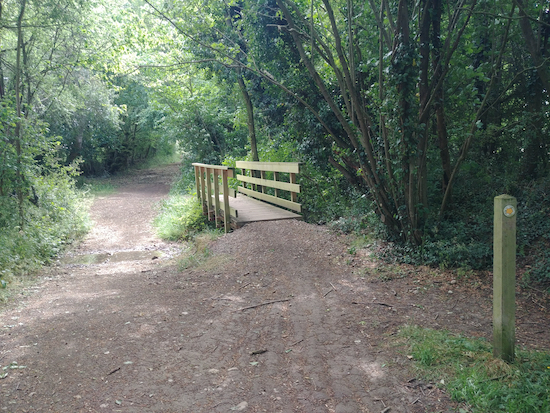 The second ford and a footbridge on Ardeley BOAT 10 mentioned in point 10 below Image by Hertfordshire Walker released via Creative Commons BY-NC-SA 4.0