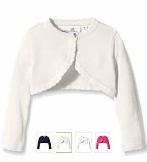 chaqueta bolero para ninas en cuatro colores diferentes