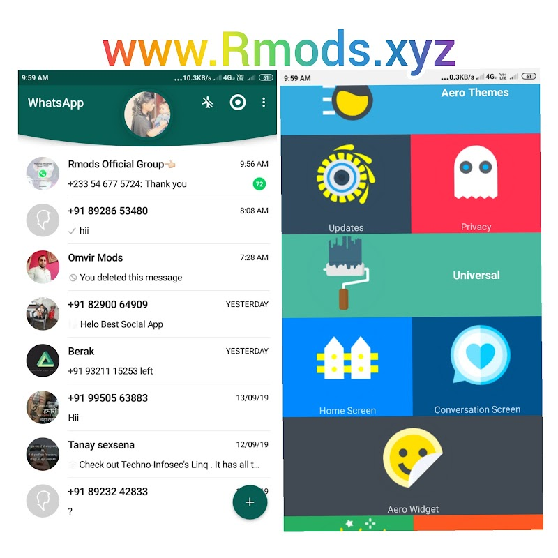 WhatsApp Aero v8.12 Latest version WhatsApp Mod App Download By Nikkmods