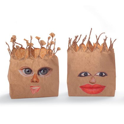 Paper Bag Gargoyles