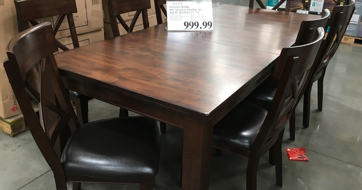 Imagio Home 9 Piece Solid Wood Dining Set