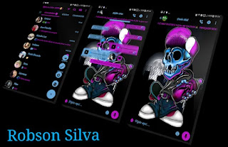 Halloween Skull Theme For GBWhatsApp By Robson