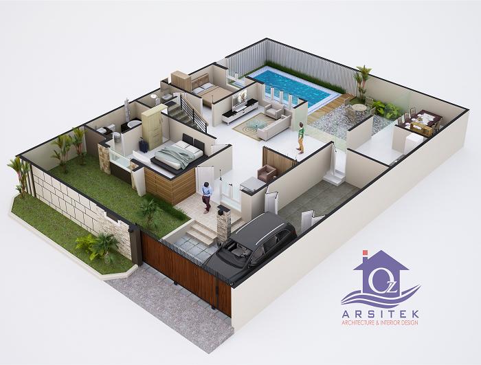 Desain Rumah Bapak Rio di Bangka Belitung