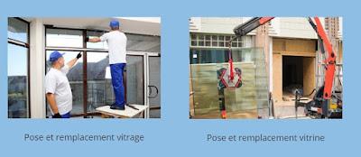 réparation vitrine paris 13