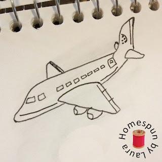 drawing sketching airplane