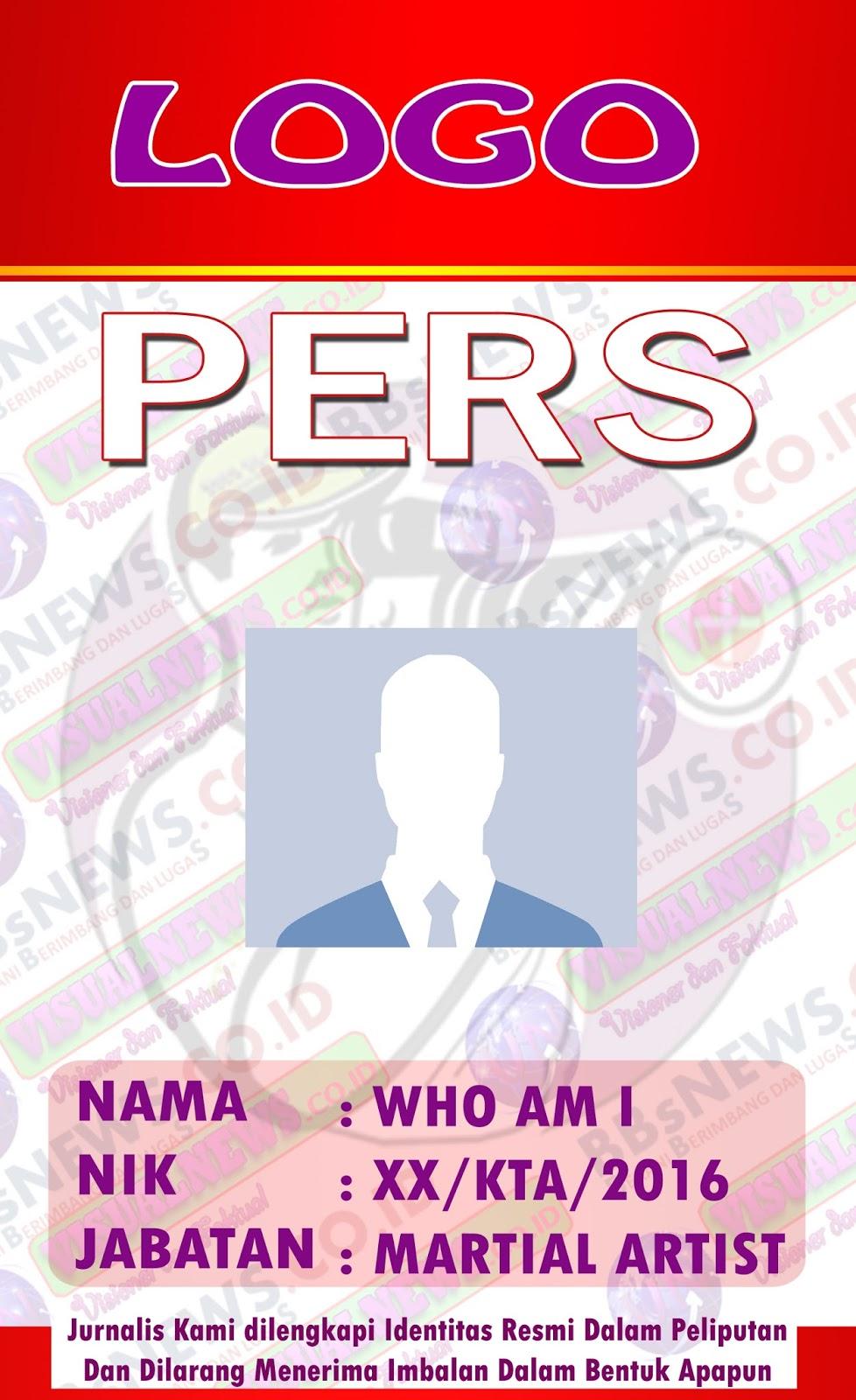 Design Kartu ID Card Pers atau wartawan Terbaru 2016 ...
