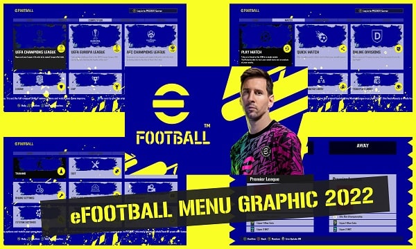 eFootBall 2022 Graphic Menu For PES 2017