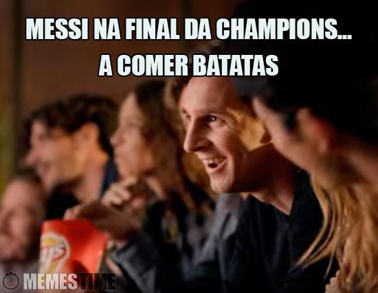 Meme Lionel Messi na Final da Champions – A comer Batatas