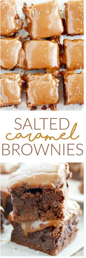 Salted Caramel Brownies #brownies