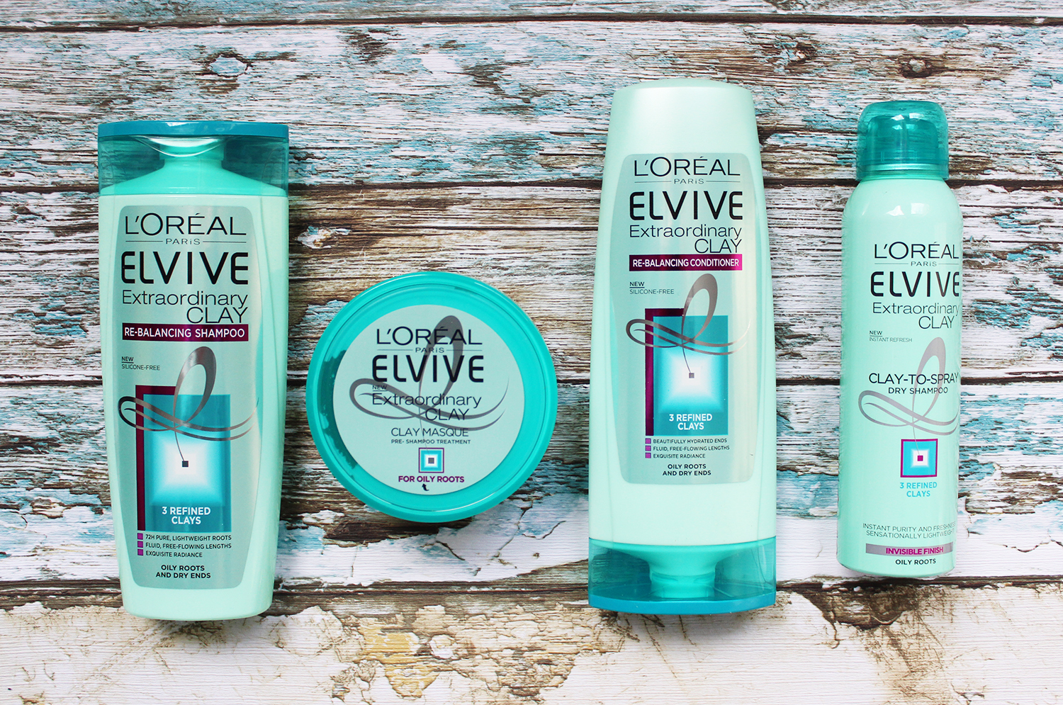 L'Oreal Elvive Extraordinary Clay Masque, Shampoo, Conditioner review