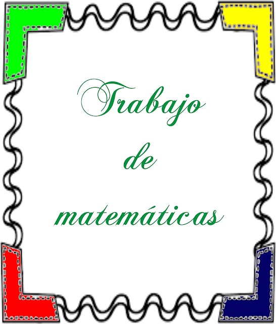 portada para album de matemáticas, carátula para trabajos de matemáticas