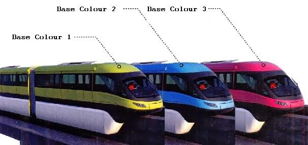Mono Rail Color Shades in Mumbai Mono