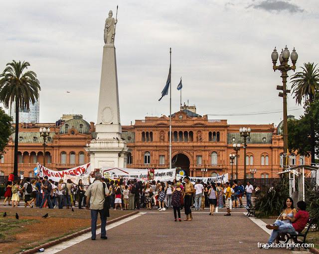 Protesto na Praça de Maio, Buenos Aires, Argentina