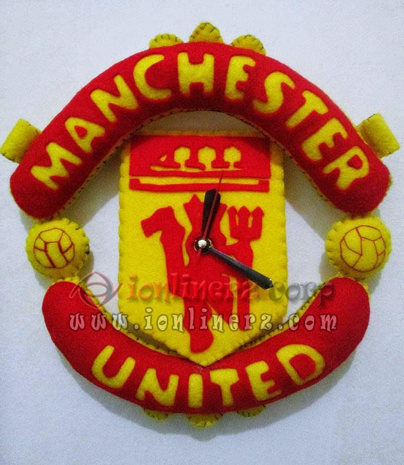 Jam Dinding Flanel Club Sepak Bola MU (Manchester United)