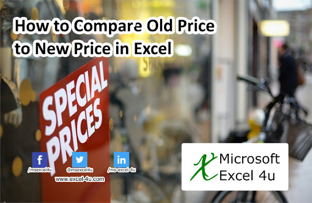 How to Compare Old Price to New Price in Excel
