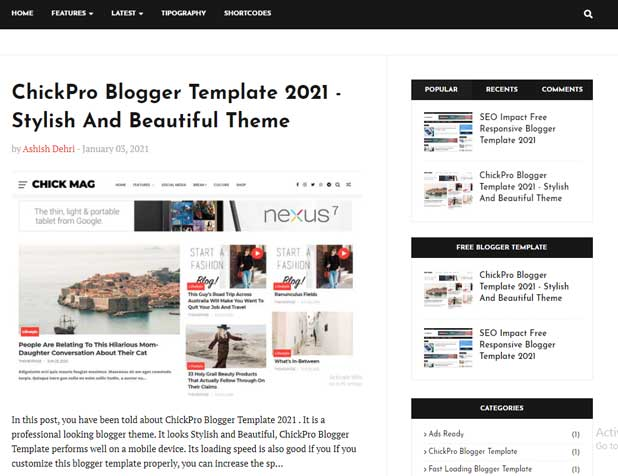 How To Install New Responsive Blogger Template