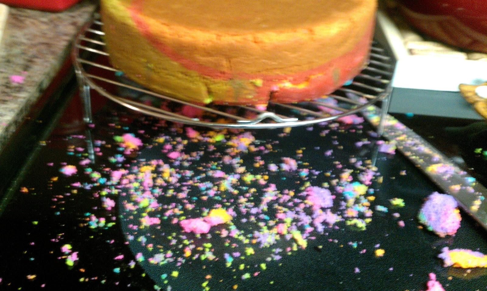 Moonruffle Tie Dye Birthday Cake