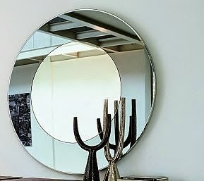 foto de Espelho Redondo sobreposto com bisote varios diametros