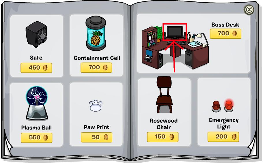 Club Penguin Island: Club Penguin - Furniture Catalog