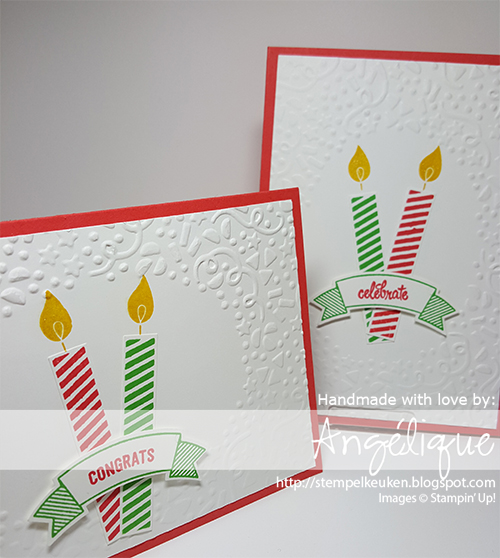 #BuildaBirthday #ThoughtfulBanners #DuetBannerPunch #WatermelonWonder #birthdaycard #birthday CucumberCrush #CrushedCurry #ConfettiTIEF #Embossing #WinkOfStella #Stempelkeuken Voor al uw Stampin' Up! producten mail naar stempelkeuken@gmail.com