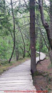 Sendero en el Parque Nacional de los Lagos de Plitvice