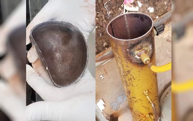 Explosão de cilindro adaptado mata auxiliar de manutenção durante conserto de ar-condicionado | Foto: Polícia Civil de Goiás
