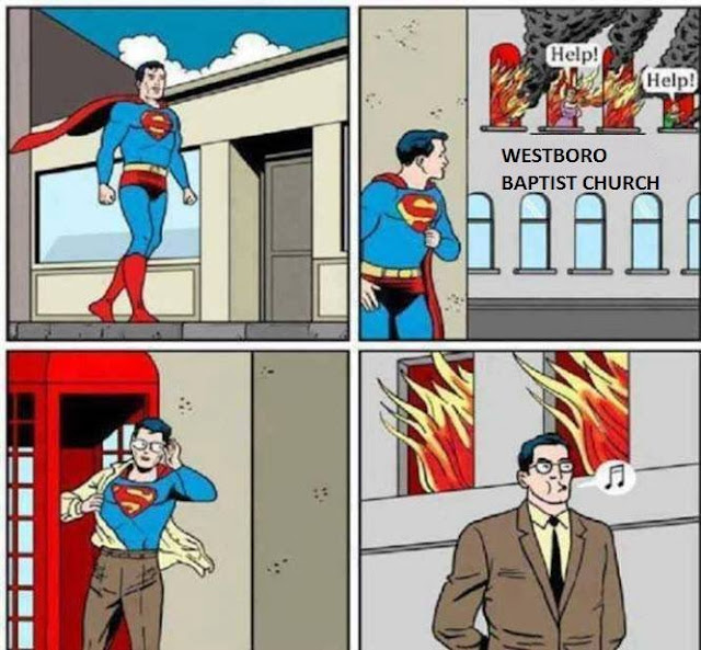 Hilarious comic on superman and Westboro church