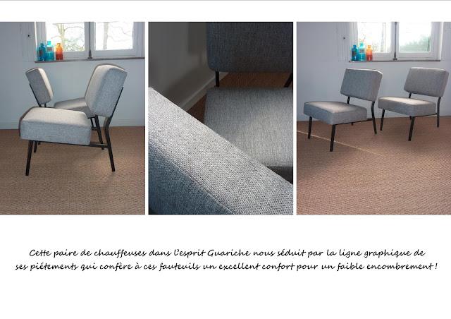 fauteuils Guariche gris